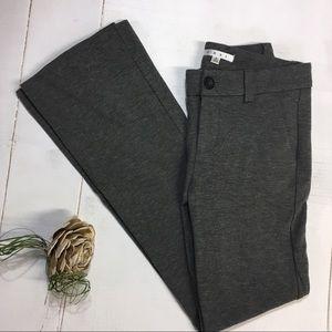 CAbi   gray ponte trousers pants   bootleg